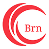 Red circle with overlapping segments and the letters 'Brn' (indicating burns section)