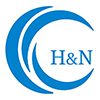 Blue circle with overlapping segments and the letters 'H&N' (indicating head and neck section)
