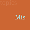 Small orange square with the letters 'Mis' indicating this topic is about medical missions